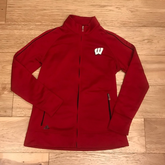 adidas Jackets & Blazers - Wisconsin Badgers Adidas Zip-Up S